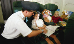 Flying takes kids out of their comfort zones -- how can you get them back in?