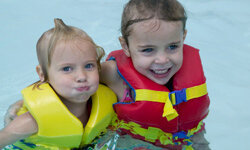 If a child can't swim, don't rely on floaties or water wings. Use a life jacket instead.