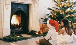 A winter fire is cozy, but mind the children while it burns.