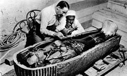 King Tut was found with gold and seeds.