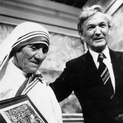 Mother Teresa won the Nobel Peace Prize in 1979 at the age of 69.