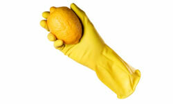 Lemon juice cleans and deodorizes your bathroom.