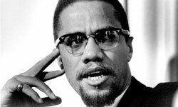 Malcom X was put into an orphanage after his father died and his mother was admitted to a mental hospital.