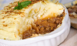 You can dress up a basic shepherd's pie recipe with your favorite spices.