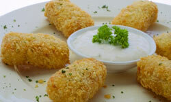 Croquettes are typically best served hot and with a sauce.