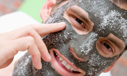 You can use a simple scrub or an entire exfoliation mask.