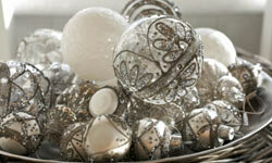 Leave color out this year and instead, focus on whites, metallics and clear glass.