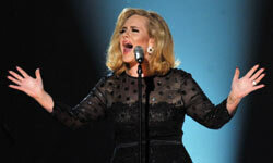 Adele rocked this black lace dress at the 2012 Grammy Awards.