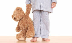 Bedtime means time for teddy bears -- and a good moisturizing cream.