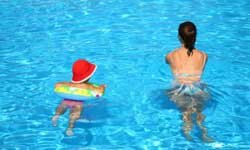 Babies as young as 8 weeks can enjoy water play.