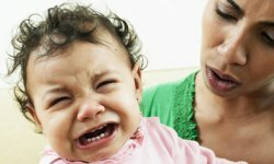 Crying might mean hunger, a wet diaper or tiredness.