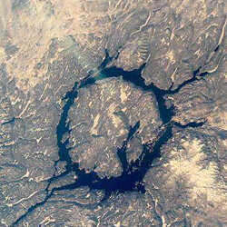 The Manicouagan impact crater in Canada