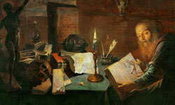 This 1634 painting by David Ryckaert III depicts an alchemist at work.