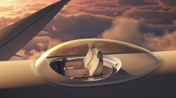 Clear Plastic Bubble Would Let Aircraft Passengers Enjoy View from Outside