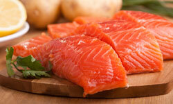 The omega-3 in salmon can help fight cancer.