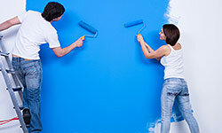 Upgrade plain walls with a vibrant color.