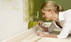Bring energy and intrigue to your space by painting one wall in a room a different color.