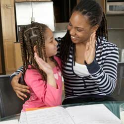 Your child's middle school course work will likely be more difficult than what she is used to, so she may need your help at first.