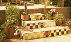 With mosaic tiles, you can make almost any design you like.