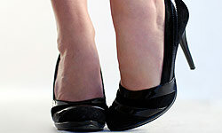 Black pumps never go out of style, and they're great for the office.