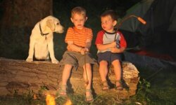 Or maybe Fido would rather sit around a campfire and listen to ghost stories.