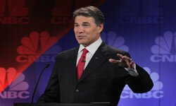 Texas governor Rick Perry, on the day of his fateful debate gaffe.