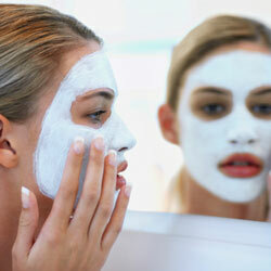 It's a good idea to put a protective barrier on your lips before applying masks or medications to your face.