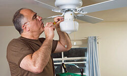 Ceiling fans aren't so difficult if you can tackle DIY projects.