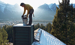 Chimney repairs are just as dangerous as roof repairs. Leave them to the experts. See more home construction pictures.