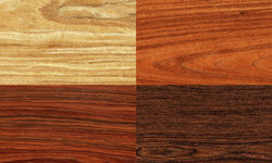 You can play with color, too. Think burgandy, dark gray or even black stain.