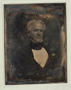 Daguerreotype of public school crusader Horace Mann