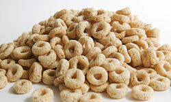 Cheerios are fun to eat and they're low in sugar.