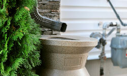 No matter what design you choose for your homemade rain barrel, all that (free!) nearby water will come in handy.