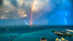 'Rainbow Lightning': One of Mother Nature's Rare Shows