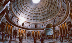 They came, they saw, they built some domes. The Pantheon is a pretty fabulous example of how the Romans conquered interior space.