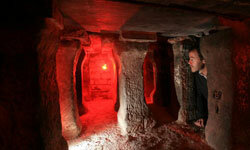 Some Roman hypocausts are still (mostly) intact. These were discovered beneath the city of Chester, England, in 2008.