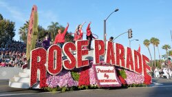 Flower-covered Floats Blossom at the Annual Rose Parade