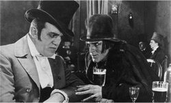 Scene from film version of Dr. Jekyll and Mr. Hyde