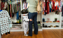 He'll probably leave the astronaut suit at home these days, but bossy orders might send your man orbiting back into childhood.