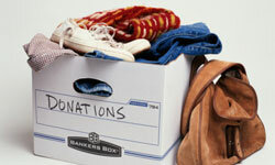 Make it insanely easy for him to get rid of old or outdated clothing.