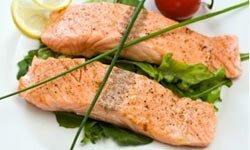 If you're watching your sodium intake, choose fresh fish like salmon, over shellfish.