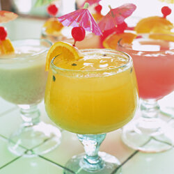 In keeping with the theme of spring, serve drinks that are fruity, fun and festive.