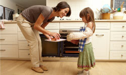 Cook with your children to make the meal more fun.