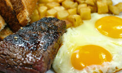 Steak and eggs are the perfect combo to start your day off right.