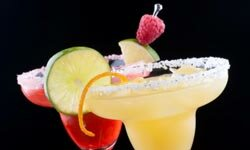 Don't those orange and raspberry margaritas look delish? At 740 calories each, you might want to have just one!