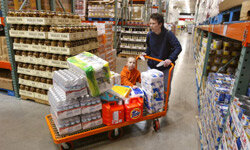 Buying at bulk stores like Costco can save you dough.