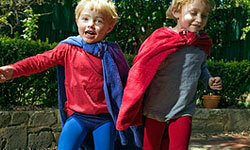 Test the little superheroes' mettle with a fun obstacle course.