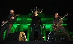 U2 performs in front of the Brandenburg Gate in Berlin in 2009.  While the concert was free, you can bet the environmental impact wasn't.