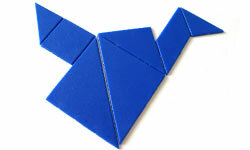 Tangrams are puzzles made of cut-out shapes that can be combined to form other shapes or designs.