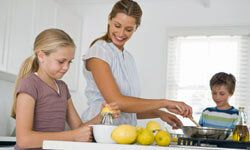 Cooking with your kids can have all kinds of benefits -- for you and them.